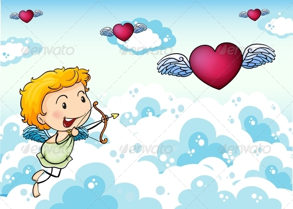 GraphicRiver Angel with Hearts 7968323