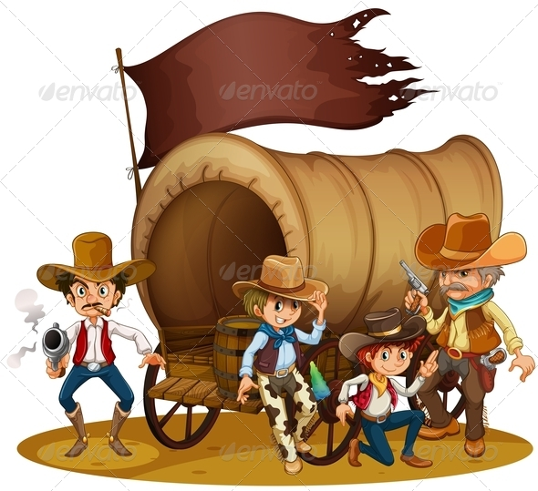 GraphicRiver People from the Wild West 7968329