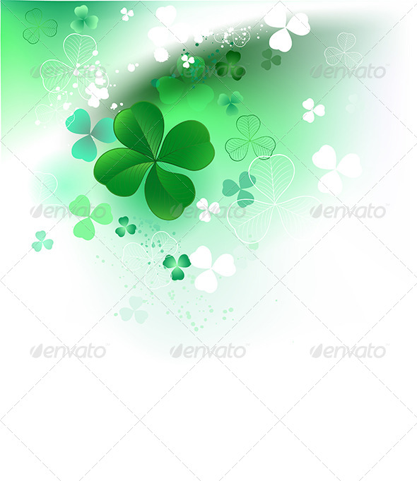 GraphicRiver Clover on Light Background 7968381