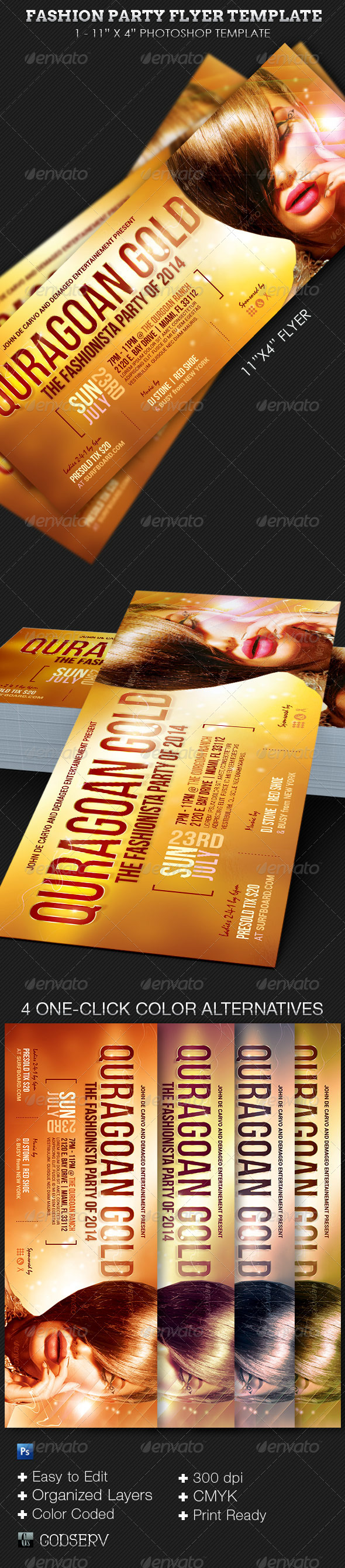 Fashion Party Event Flyer Template - Clubs & Parties Events