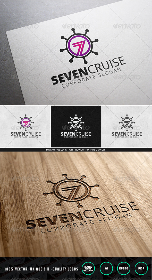 GraphicRiver Seven Cruise Logo Template 7968805