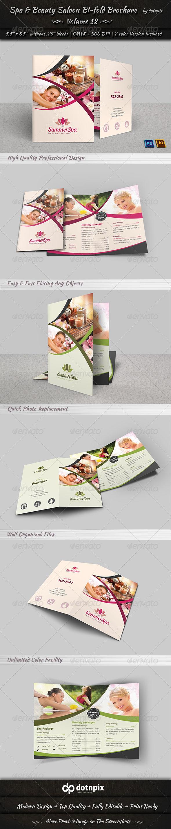 GraphicRiver Spa & Beauty Saloon Bi-fold Brochure Volume 12 7968819