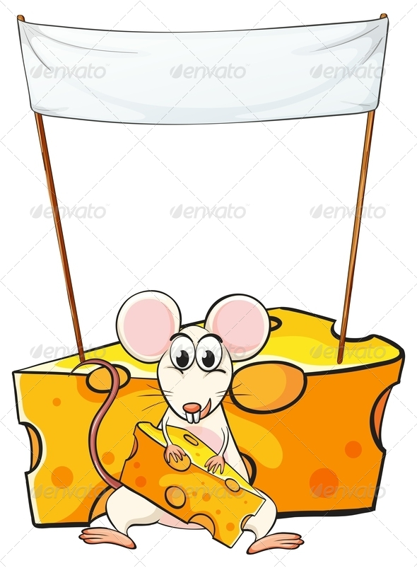 GraphicRiver Mouse Eating Below an Empty Banner 7968960