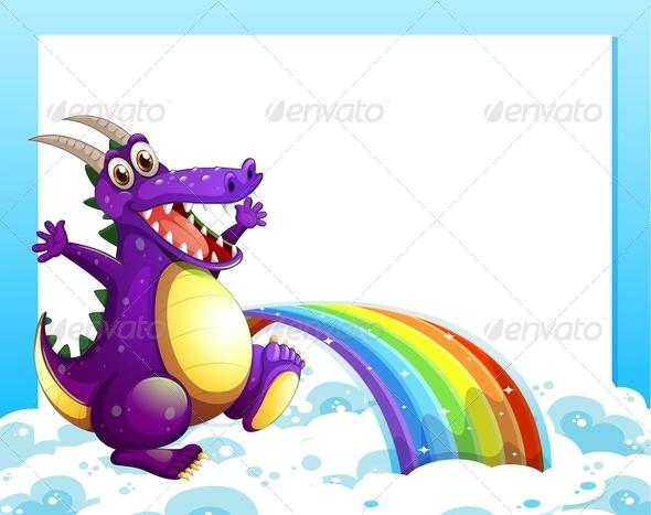 GraphicRiver Dragon Near the Rainbow 7969142