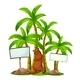 Sealion Under Trees with Blank Signs - GraphicRiver Item for Sale