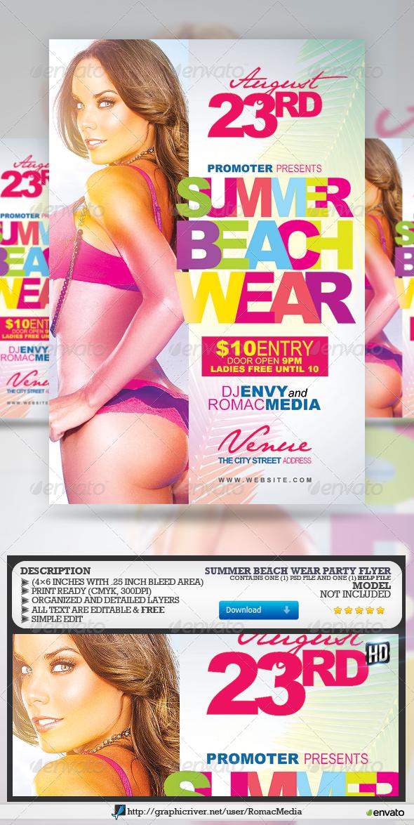 GraphicRiver Summer Beach Wear Flyer 7942079