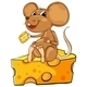 Mouse Sitting on Cheese - GraphicRiver Item for Sale