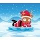 Santa's Reindeer on an Iceberg - GraphicRiver Item for Sale
