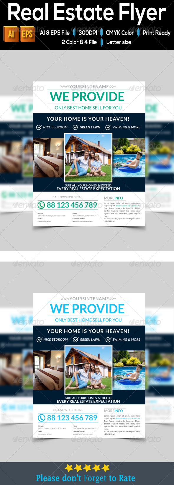 GraphicRiver Real Estate Flyer 7969591