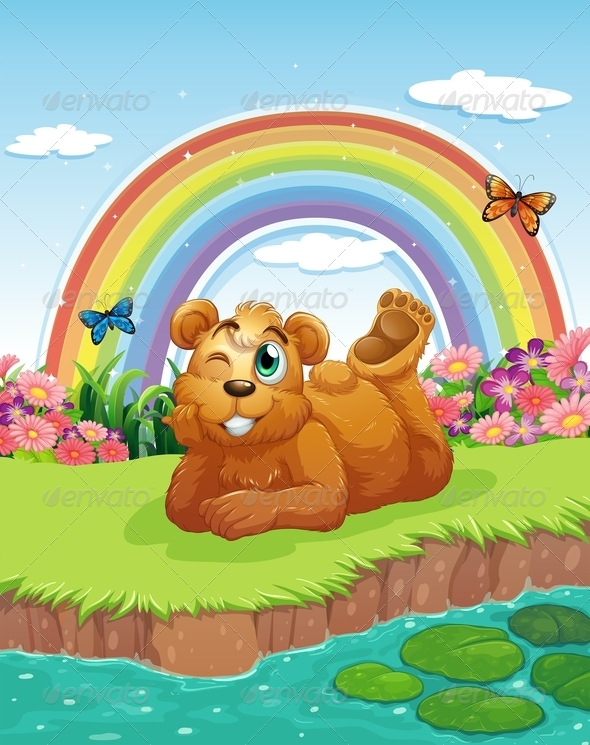 GraphicRiver Bear at the Riverbank 7969600