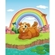 Bear at the Riverbank - GraphicRiver Item for Sale
