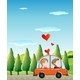 Couple Riding on a Car - GraphicRiver Item for Sale
