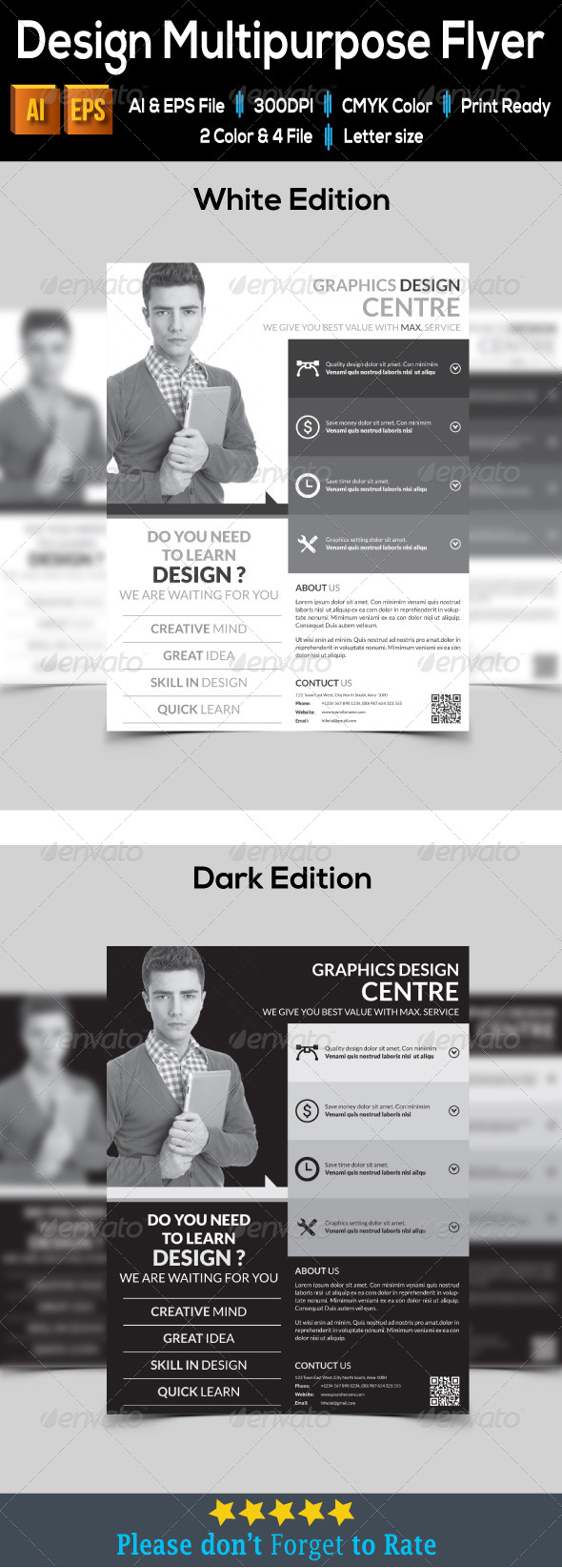 GraphicRiver Design Multipurpose Flyer 7969610