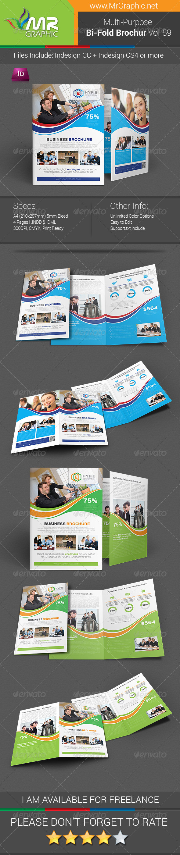 GraphicRiver Multipurpose Bifold Brochure Template Vol-59 7969716