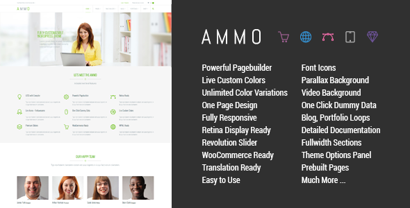 ThemeForest Ammo Corporate MultiPurpose Theme 7904832