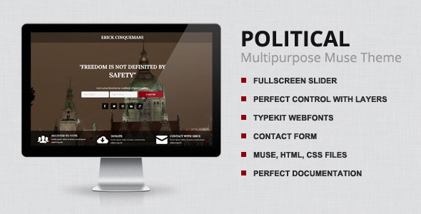 Political - Muse Theme - Landing Muse Templates