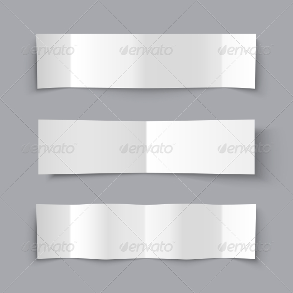 GraphicRiver Set of Bended Paper Banners with Shadows 7970455