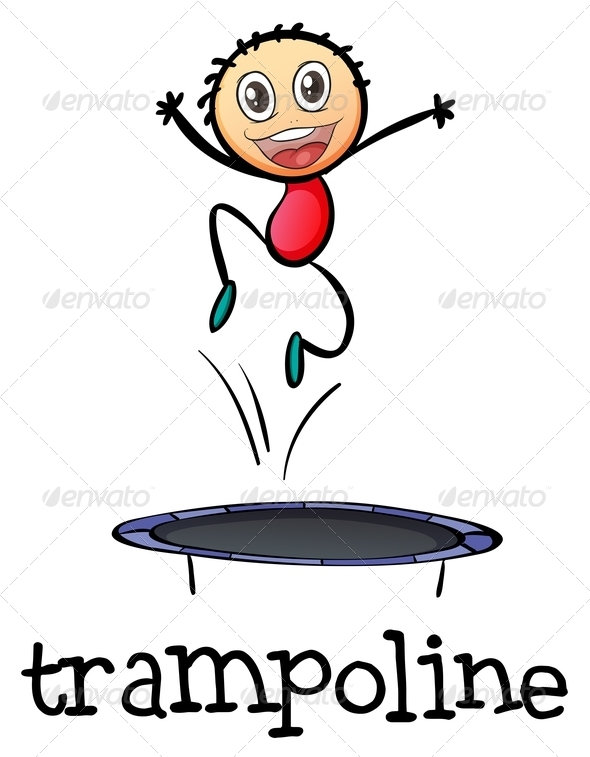 GraphicRiver Young Boy Playing on a Trampoline 7970477