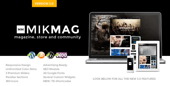 MikMag - Responsive, Buddypress and Woocommerce - Blog / Magazine WordPress