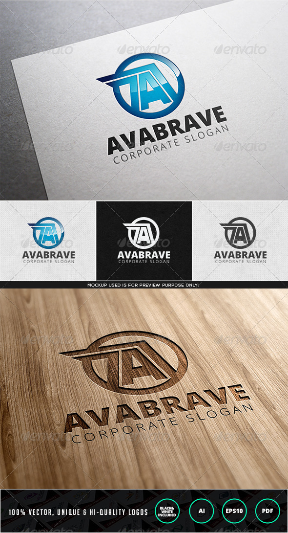 GraphicRiver Avabrave Logo Template 7972110