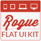 Rogue Flat UI Kit - GraphicRiver Item for Sale