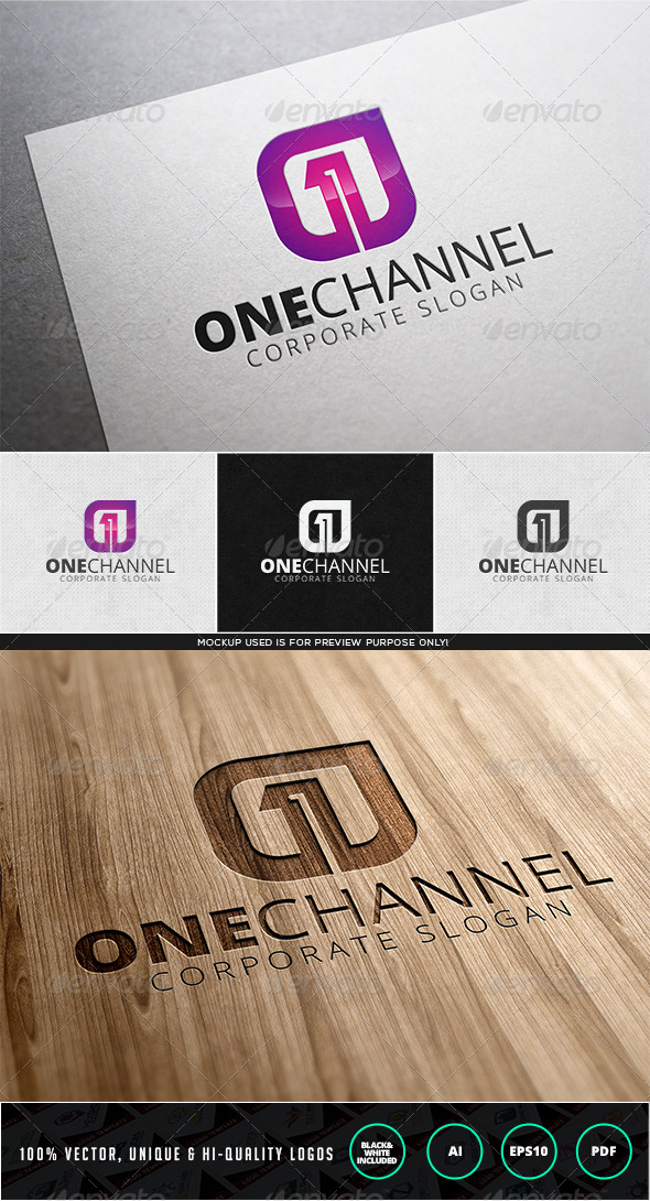 GraphicRiver One Channel Logo Template 7972379