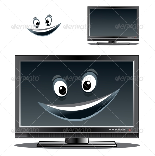 GraphicRiver Monitor with Smile 7972388