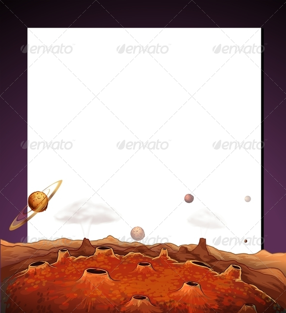GraphicRiver Paper Template with a View of Outerspace 7972405