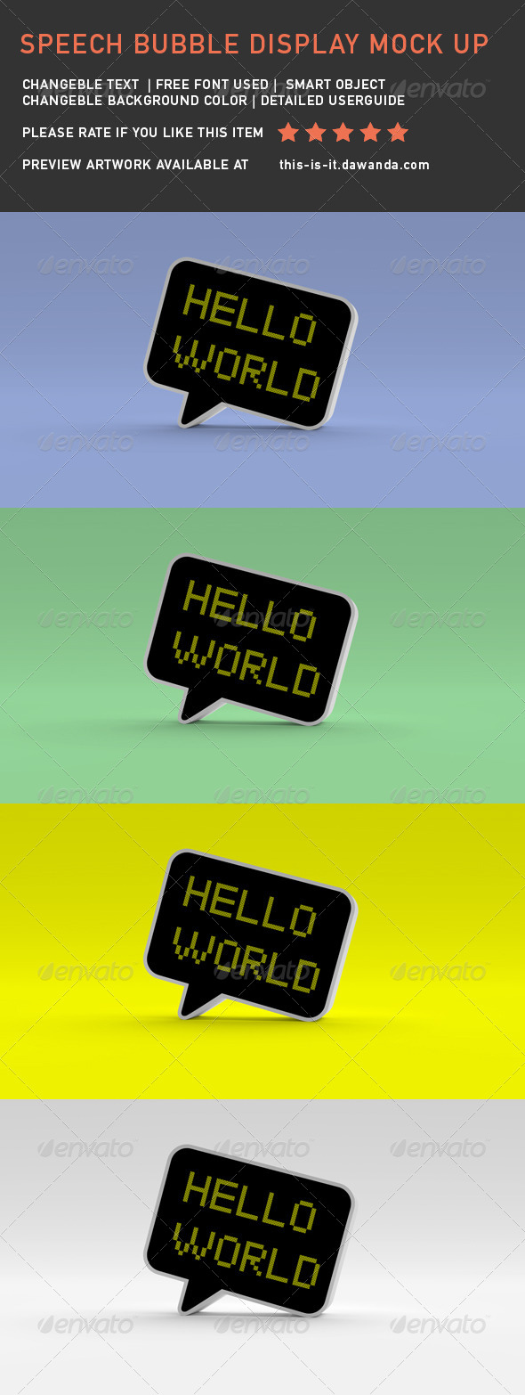 GraphicRiver Speech Bubble Display Mock-Up 7972429