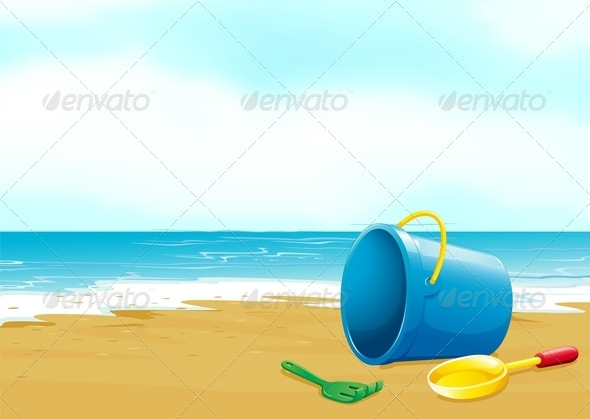 GraphicRiver Beach Toys on a Beach 7972430