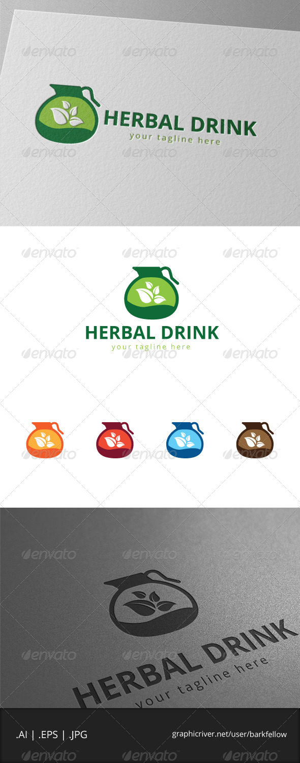 GraphicRiver Green Drink Logo 7972453