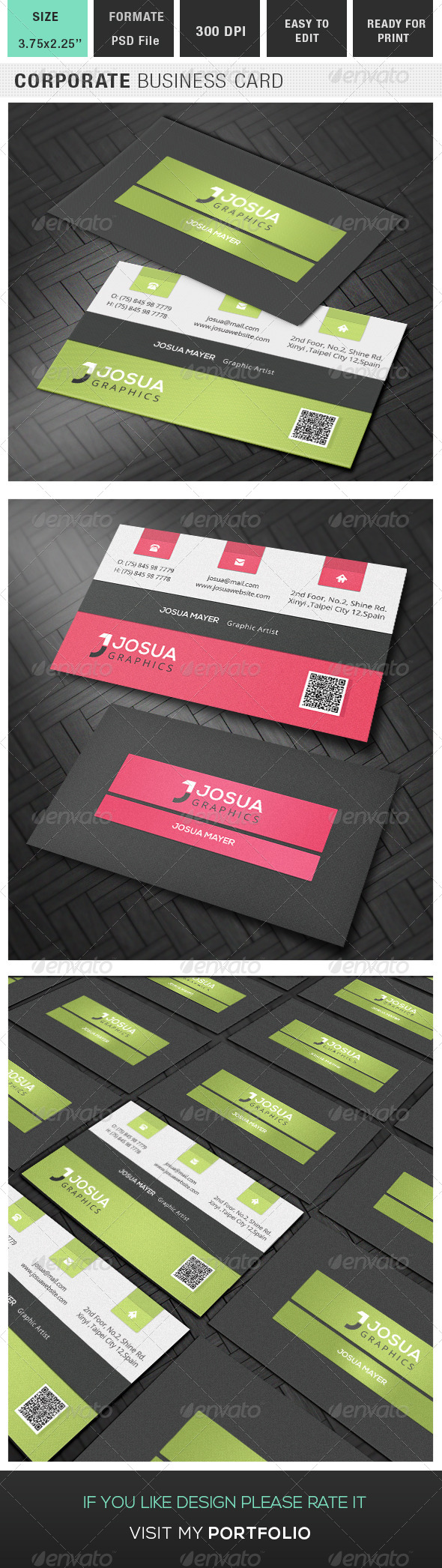 GraphicRiver Corporate Business Card 7972490
