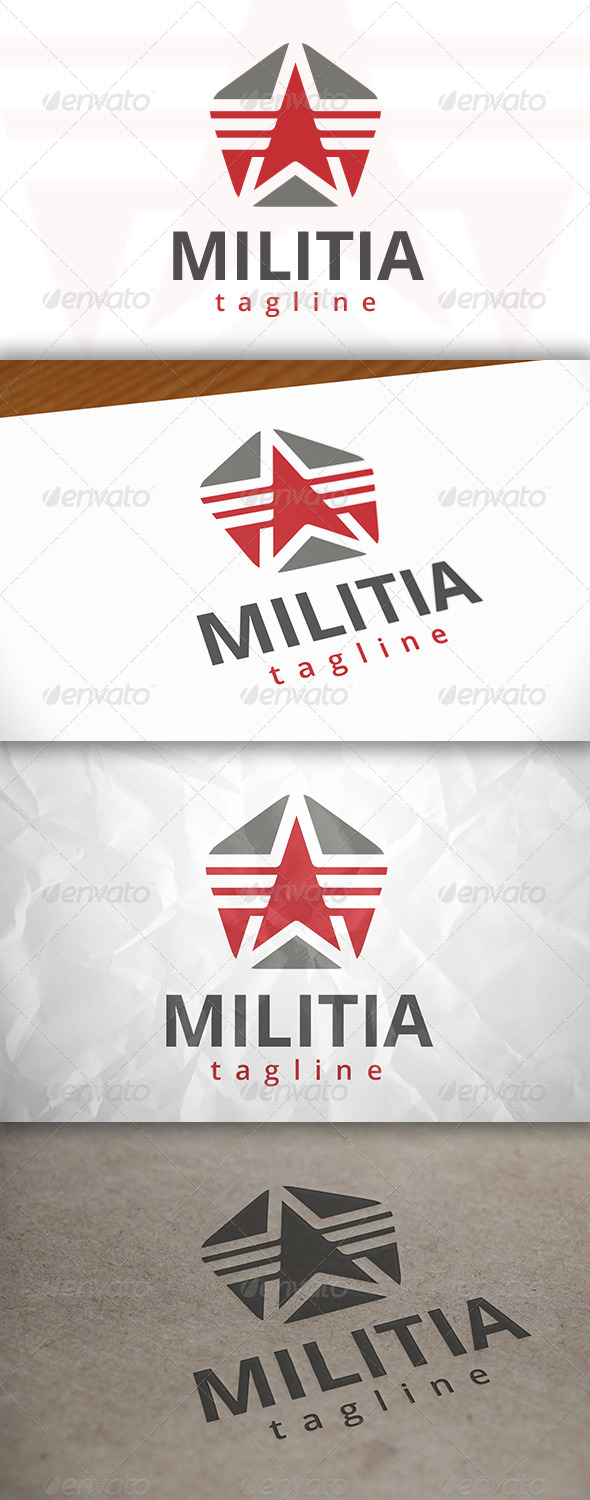 GraphicRiver Military Star Logo 7972494