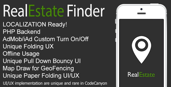 CodeCanyon RealEstate Finder Full iOS Application v1.1 7956115
