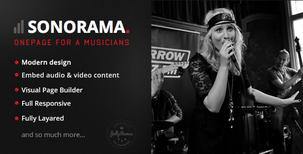 ThemeForest Sonorama Music Band & Musician WordPress Theme 7858119