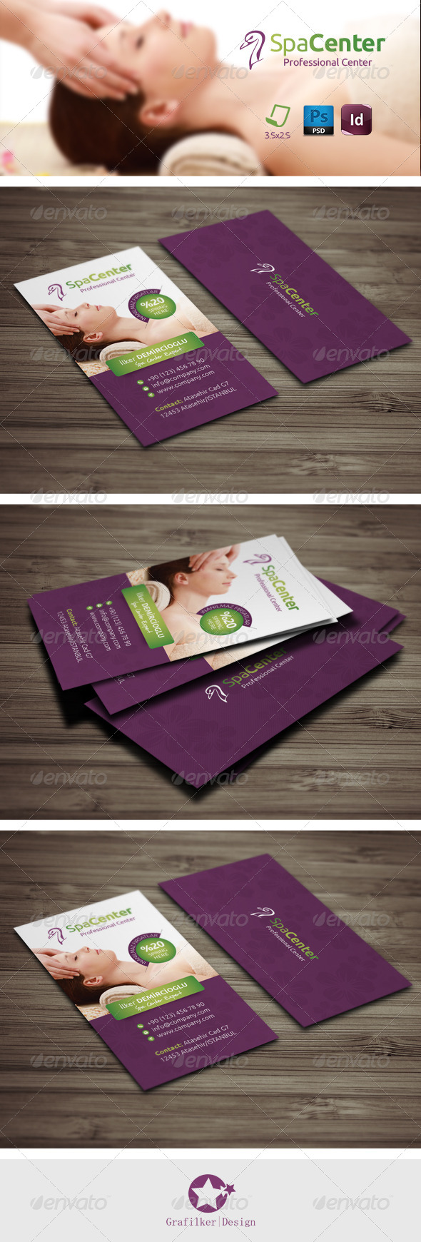 GraphicRiver Spa House Business Card Templates 7972606
