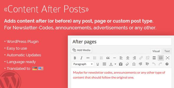 CodeCanyon Content After Posts WordPress Plugin 7972736