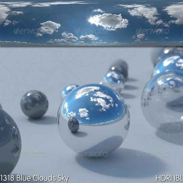 3DOcean HDRI IBL 1318 Blue Clouds Sky 7972822