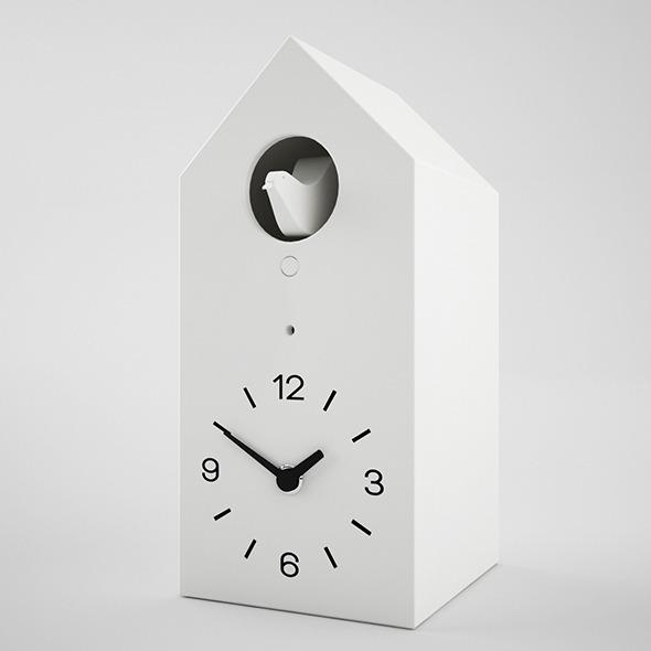 muji cucu clock 3d model - 3DOcean Item for Sale