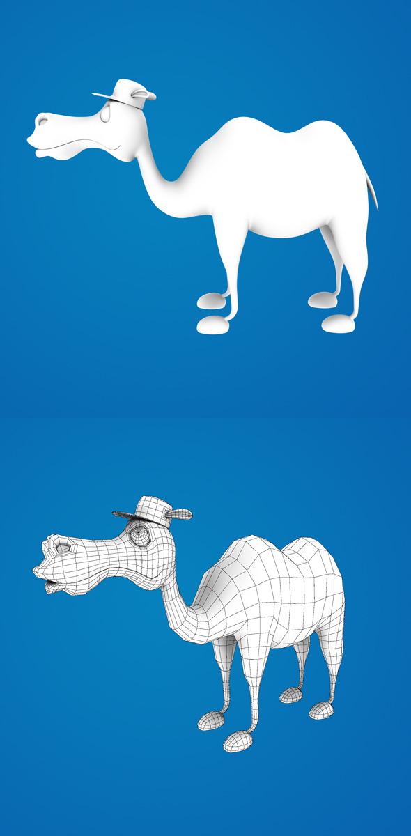 3d Cartoon Camel - 3DOcean Item for Sale