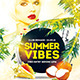 Summer Vibes Flyer Template PSD