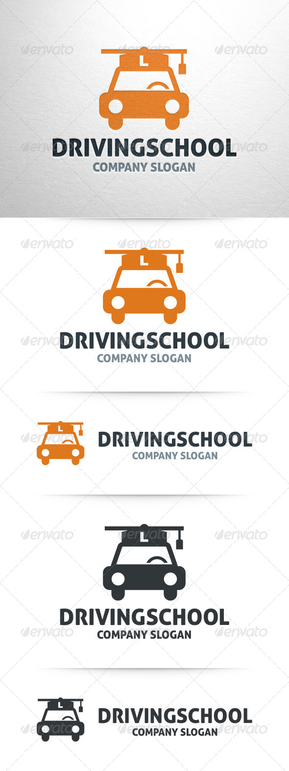 GraphicRiver Driving School Logo Template 7973001