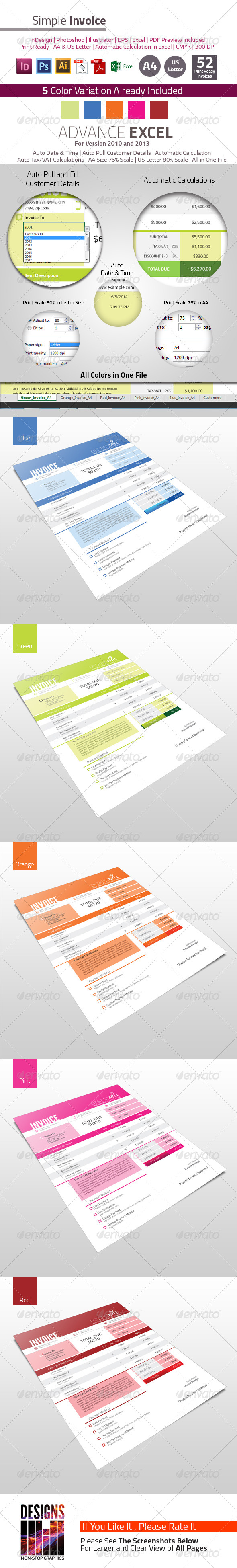 GraphicRiver Simple Invoice 7930103