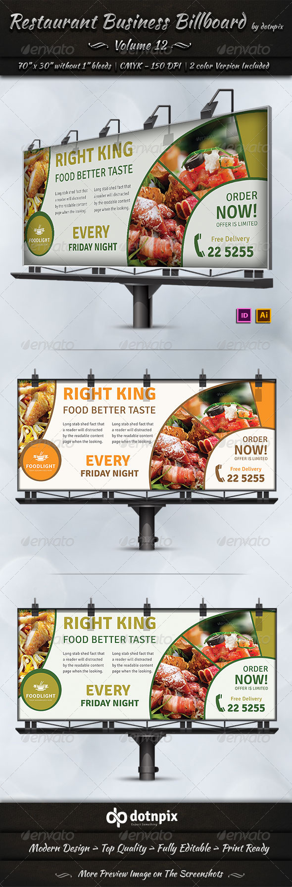 GraphicRiver Restaurant Business Billboard Volume 12 7973158