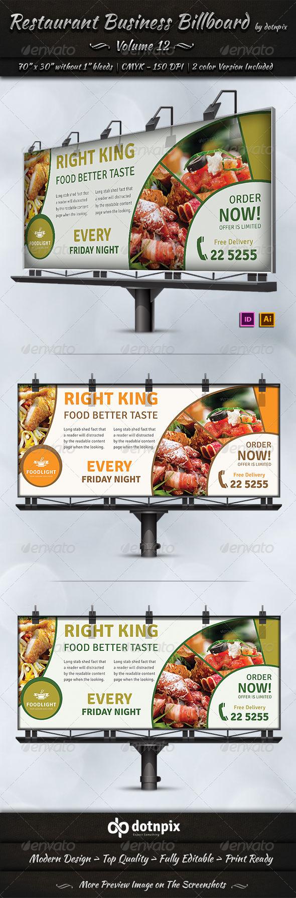 Restaurant Business Billboard Volume 12