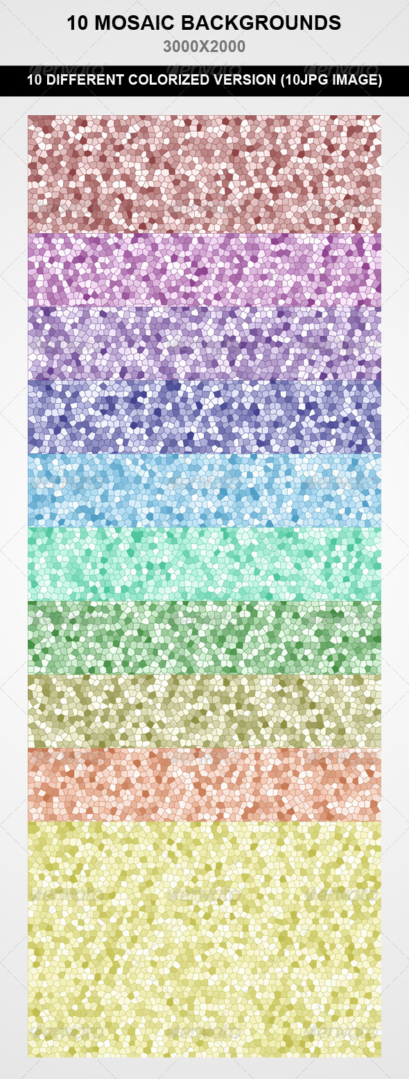 GraphicRiver 10 Mosaic Backgrounds 7973199