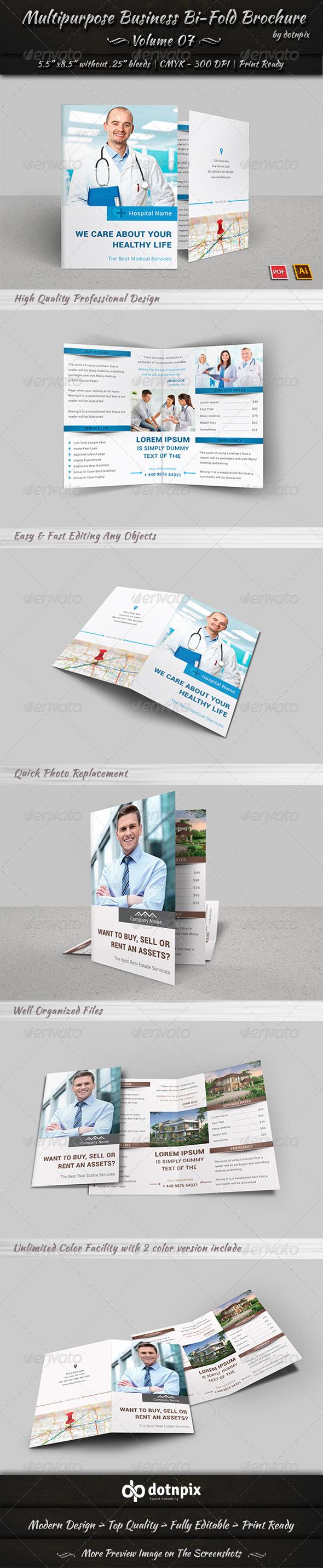 GraphicRiver Multipurpose Business Bi-Fold Brochure Volume 7 7973334