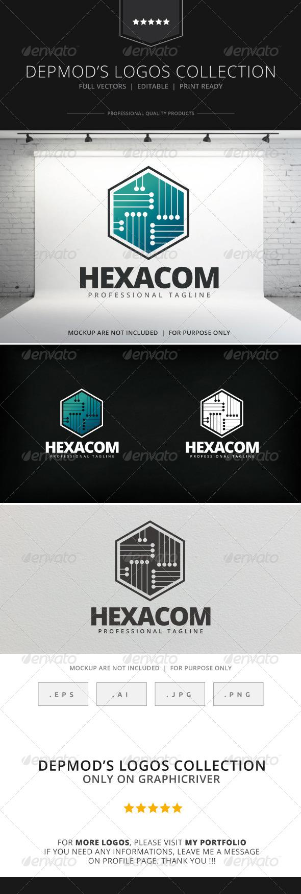 GraphicRiver Hexacom Logo 7973347