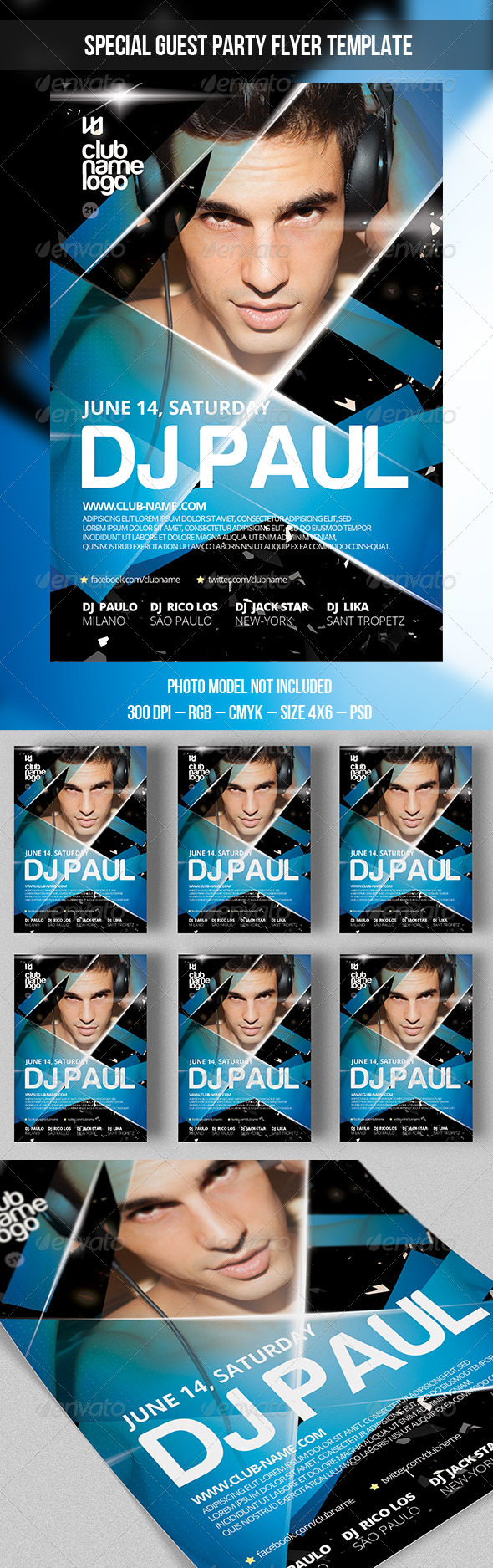 GraphicRiver Special Guest Party Template 7973474