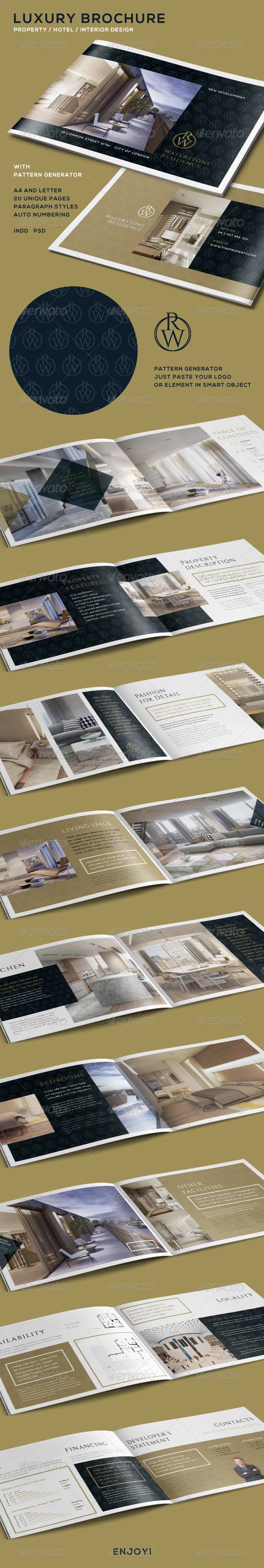 GraphicRiver Luxury Brochure for Property Hotel Interior 7973509